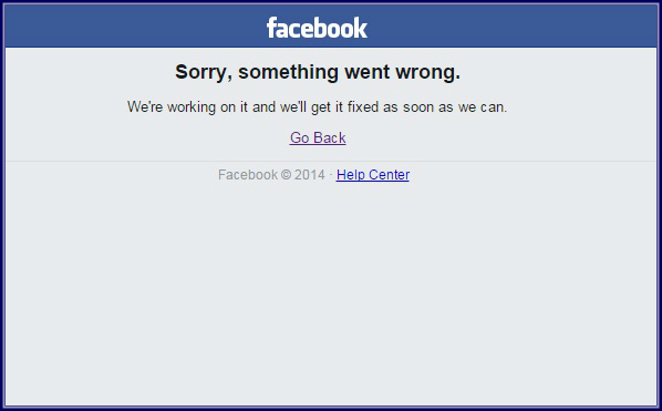 Facebook - erro