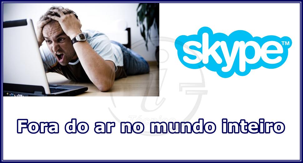 Skype está em manutenção