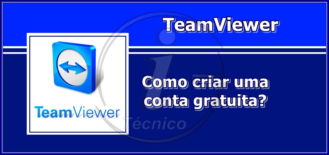 Como criar conta de TeamViewer?