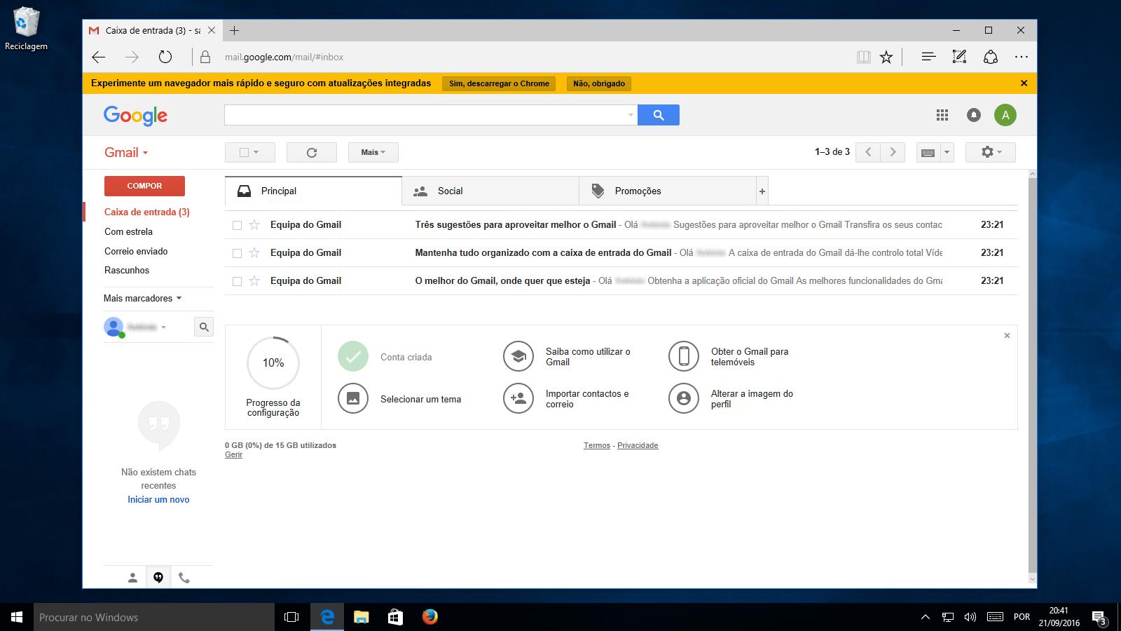 gmail aprenda a criar uma conta de e mail i t cnico. Black Bedroom Furniture Sets. Home Design Ideas
