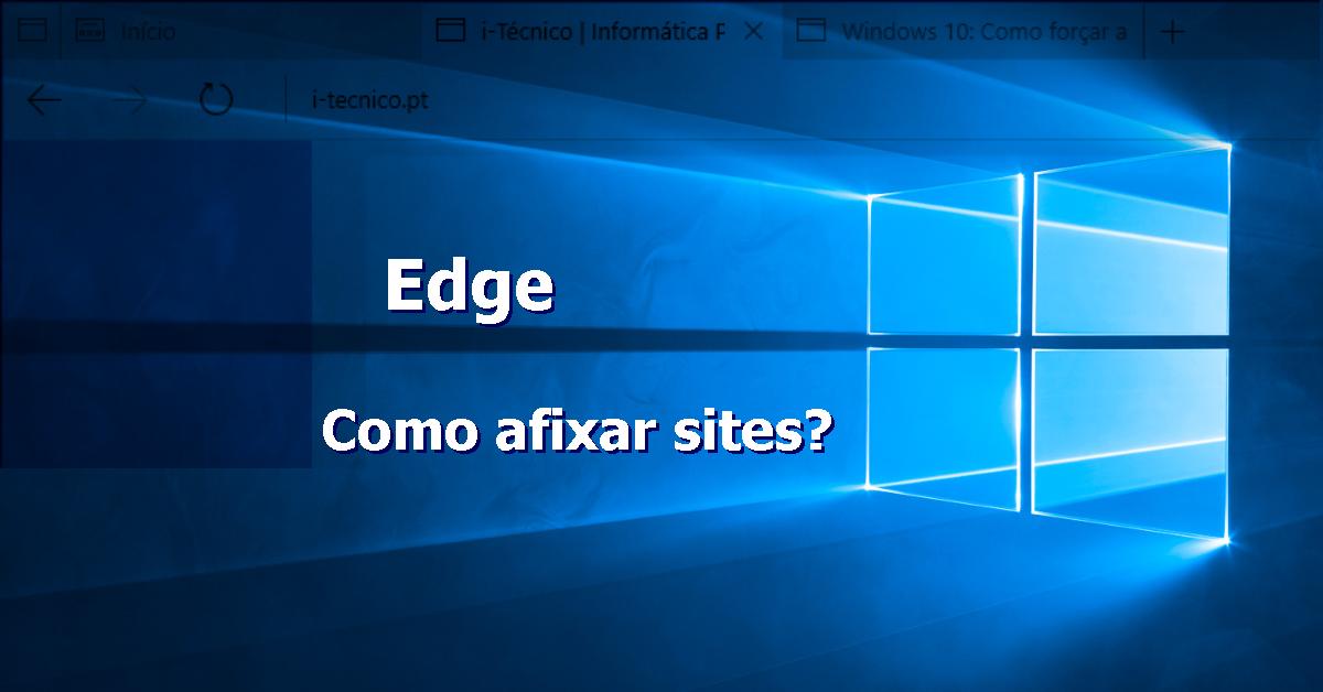 Edge - afixar site