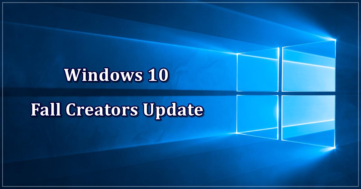 Windows 10 Fall Creators Update - Novidades