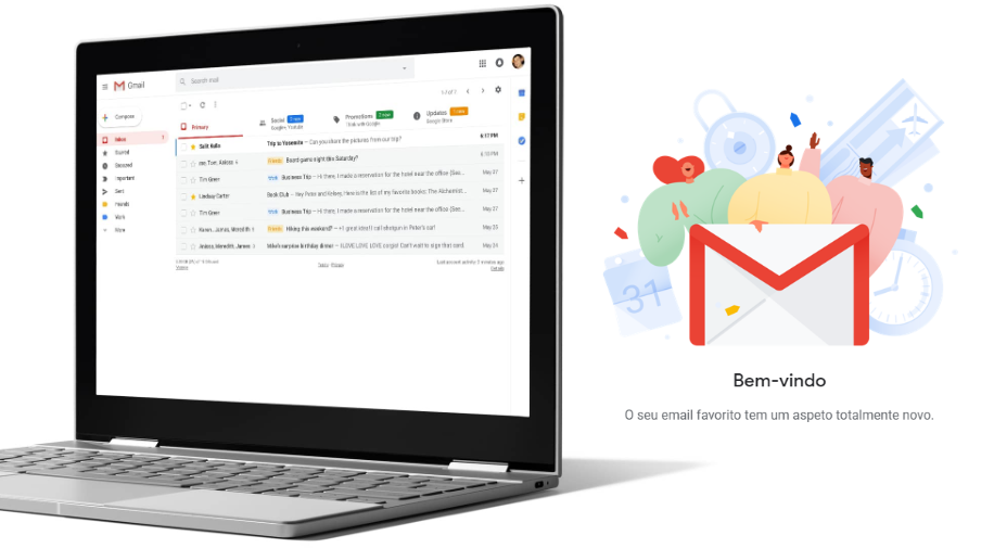 Gmail - Novo visual