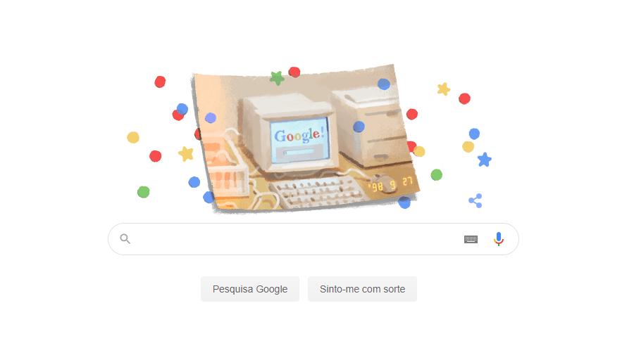 Doodle 21º aniversário Google 27092019