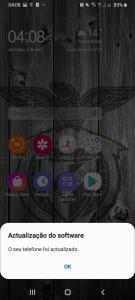 Actualização One UI 2 - Actualização feita