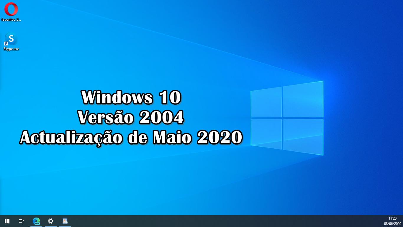 Windows 10 20H1 versão 2004