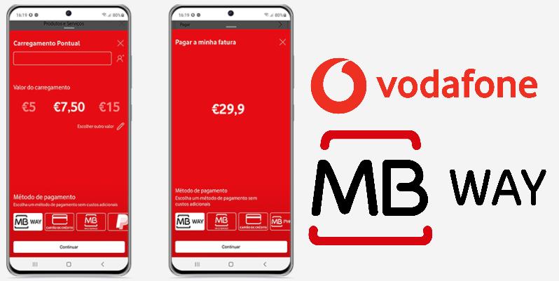 MB WAY e Vodafone