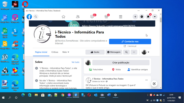 App Facebook Beta - Windows 10
