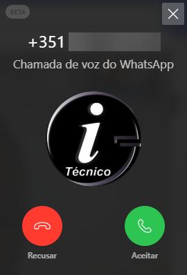 WhatsApp Desktop - Fazer chamada